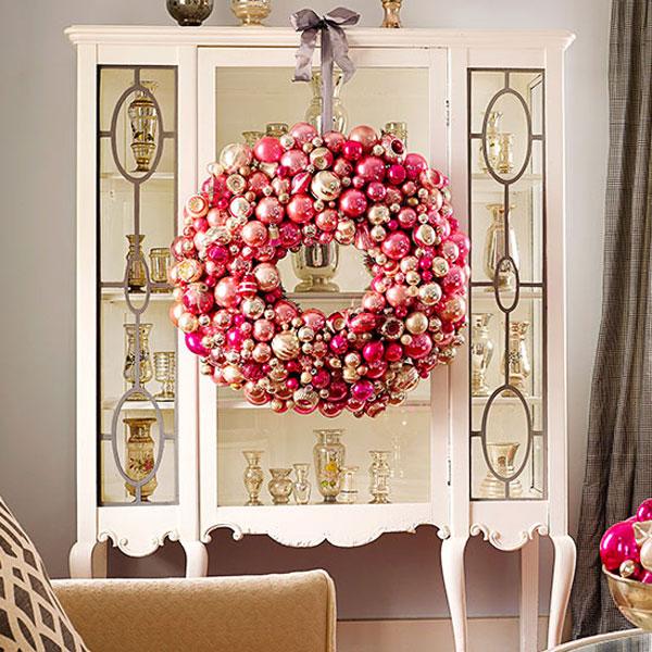 Change it hanging your indoor christmas wreath Indoor decoration ideas