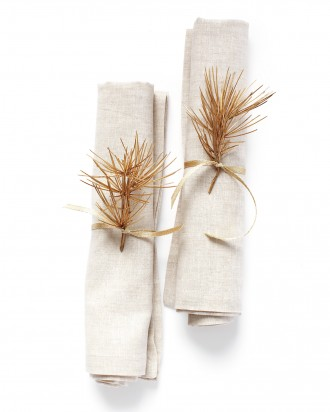 DIY Christmas Napkin Ribbon