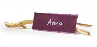 DIY Metallic Holiday Twig Name Tag