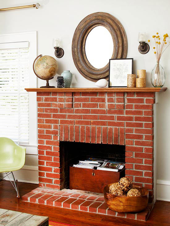 Using a fireplace for storage