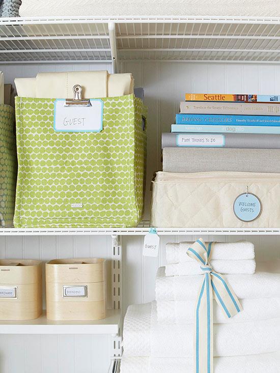 Organizing your shelves