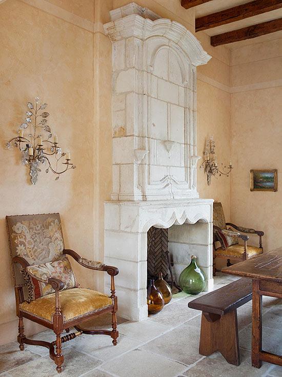 Fireplace firebox decor