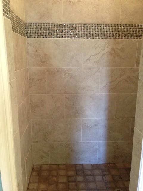 Walk-In Shower Tile Work