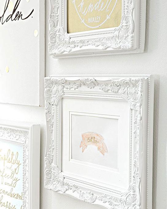 Framed Kids Art as Wall Decor