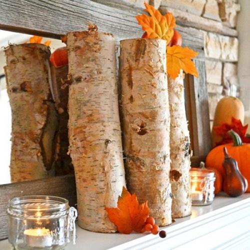 Beautiful fall mantel ideas